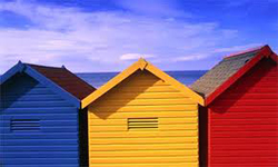 Beach Huts in Felixstowe